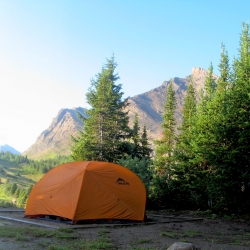 Baker Lake campground in the Skoki Region. Photo by Meghan J. Ward.
