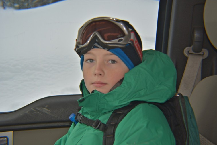 Logan - ready to ski!