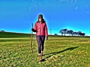 Just wandering around someones sheep field in my Steve Maddens, a stick and leather gloves! You cant keep me inside :-)